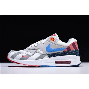 90758ad5c62c 2018 Parra x Nike Air Max 1 White Multi White Pure Platinum AT3057-100