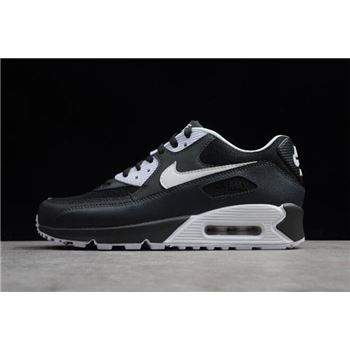 5eef1b76a4 Nike Air Max 90 Essential Black/Metallic Silver-Red 537384-084 For ...
