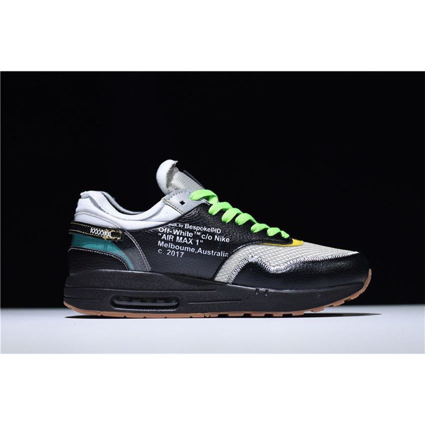 huge selection of 10ff3 50db4 BespokeIND x Off-White x Nike Air Max 1 in Black Men s Size For Sale