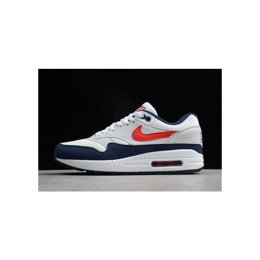 Nike Air Max 1 USA WhiteVarsity Red Midnight Navy Light Zen