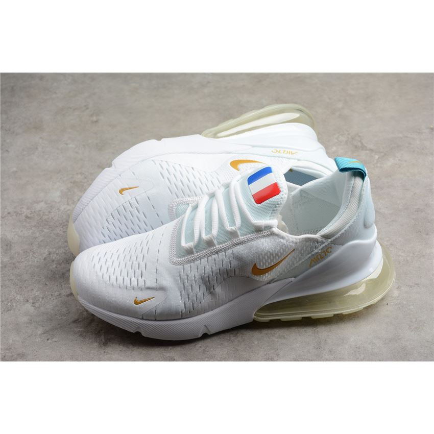 d98ee12d7f25e Nike Air Max 270 Flyknit FIFA World Cup French Champion White Gold AH8050- 119
