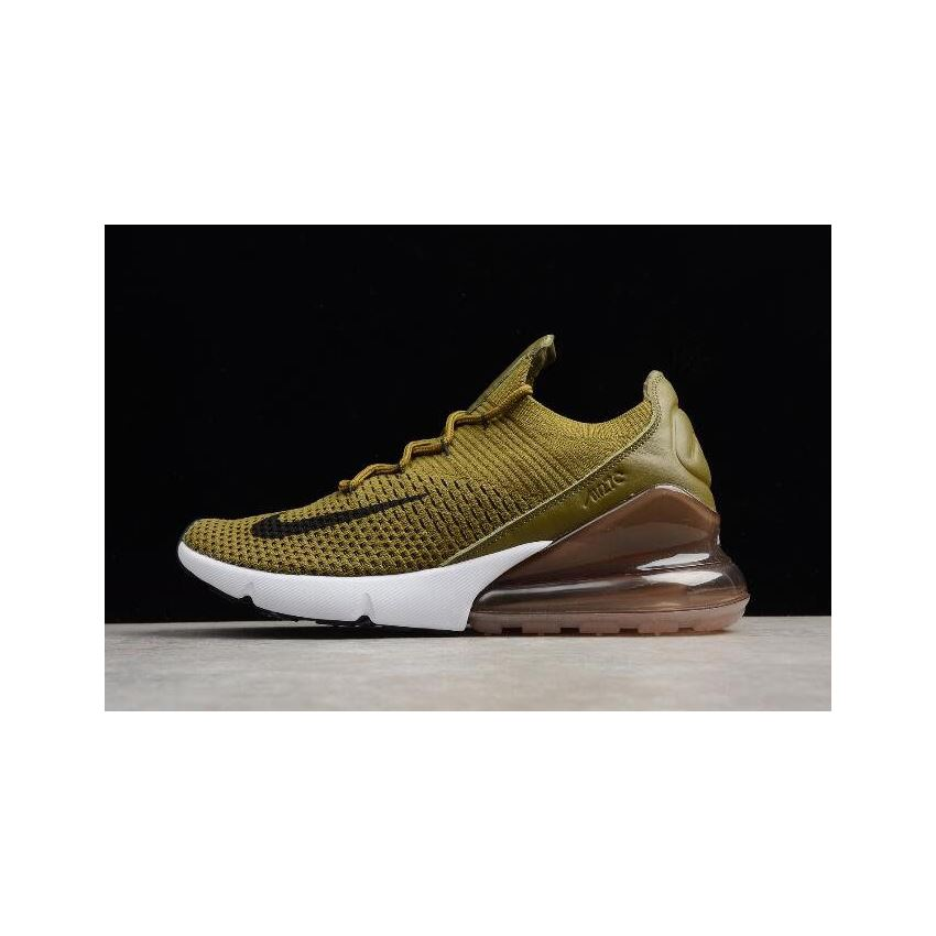 41a9ab30ad320 Nike Air Max 270 Flyknit Olive Flak Army Green Black-Coffee White AO1023-300
