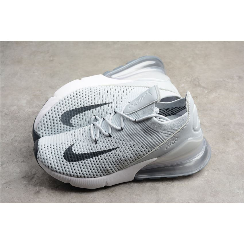 8ee1f18e5a Nike Air Max 270 Flyknit Pure Platinum/Black-Dark Grey On Sale, Nike ...