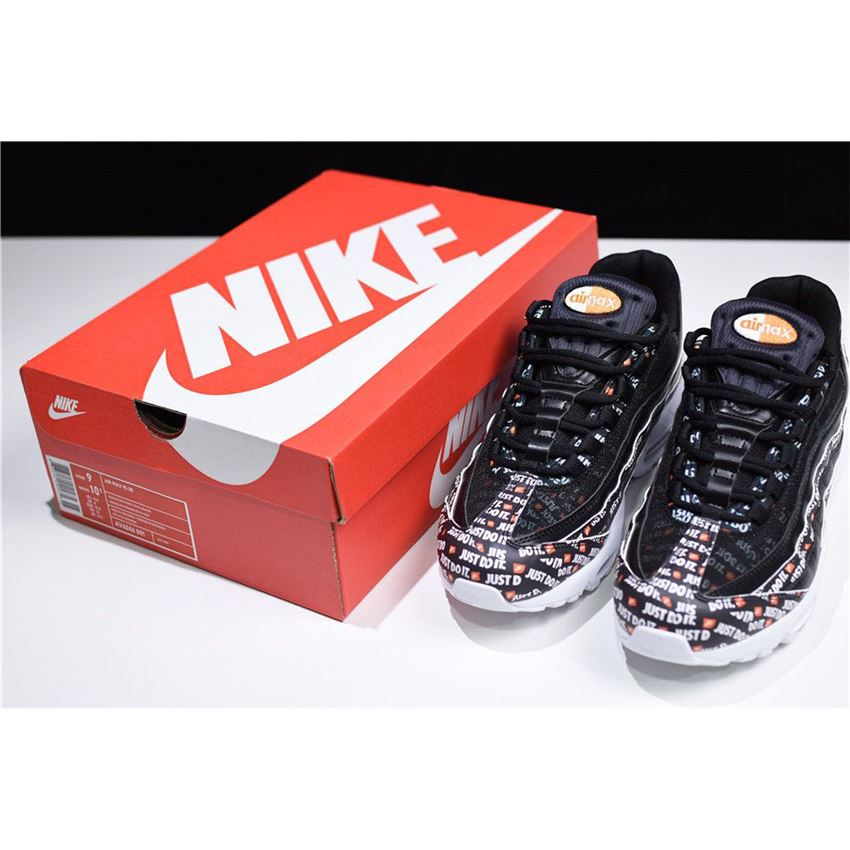 check out bc8d0 78ef6 Nike Air Max 95 SE Just Do It Black White-Total Orange AV6246-001