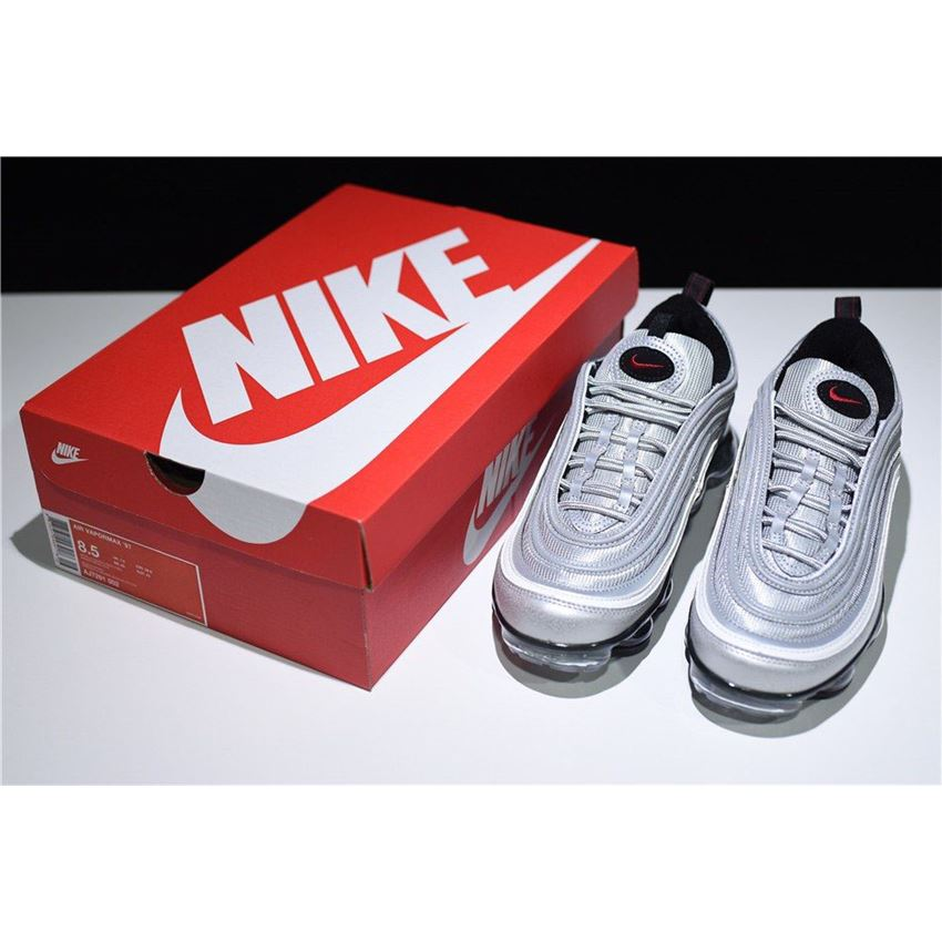 f3f5077e4a6 New Air VaporMax 97 Silver Bullet Metallic Silver Varsity Red-White-Black  AJ7291-002