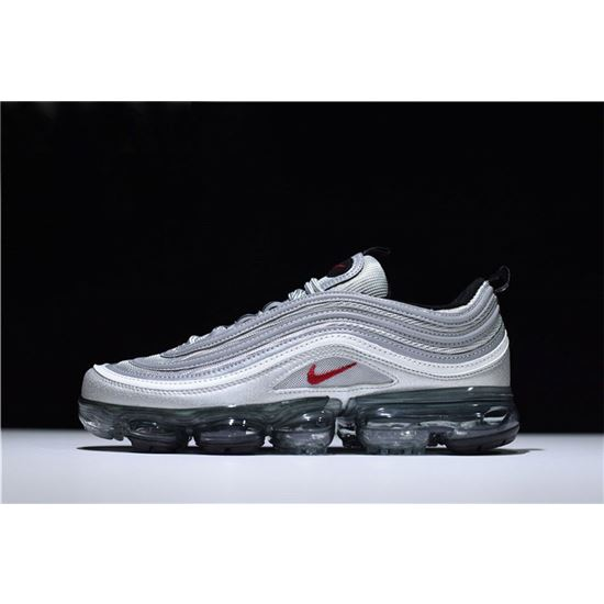 cdfb1fd792 New Air VaporMax 97 Silver Bullet Metallic Silver/Varsity Red-White-Black  AJ7291-002, Air Max 2019, Nike Air Max